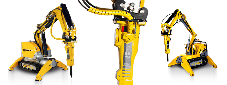 Profidiam Wyburzenia robotami Brokk