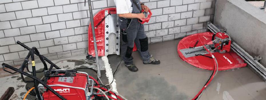 Cięcie betonu z użyciem techniki diamentowej
