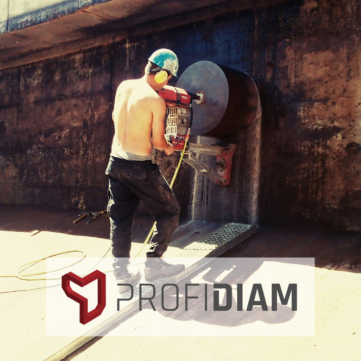 ProfiDiam - Wiercenie otworów fi 600 mm i 700 mm