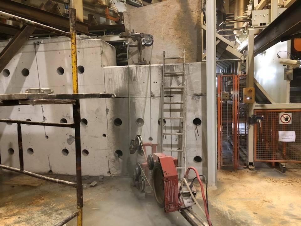 Wycinanie podstawy pod maszyny produkcyjne