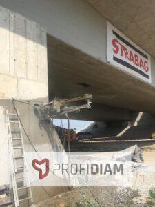 Cięcie podpór betonowych techniką diamentową